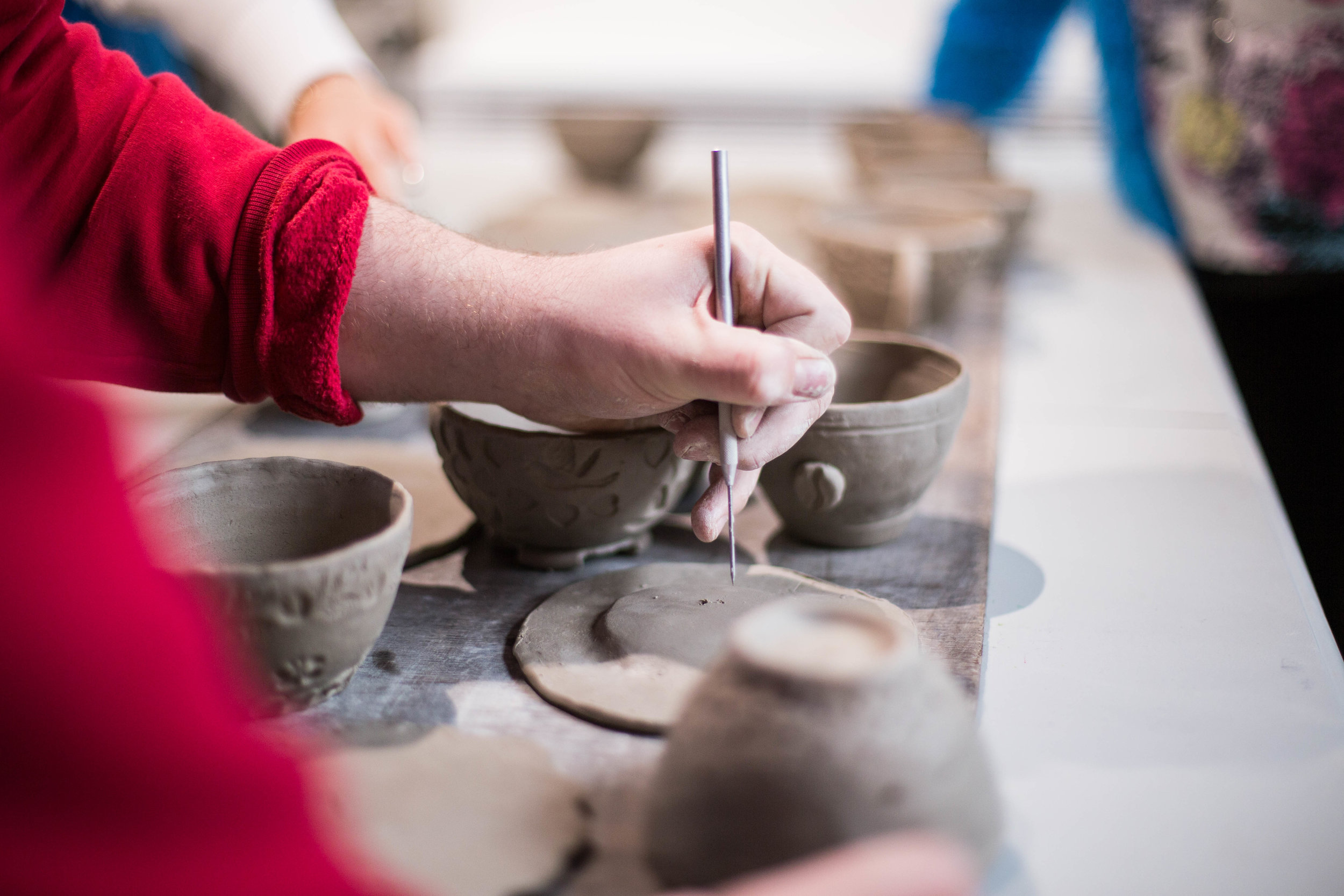 art and artisan pottery class chattanooga