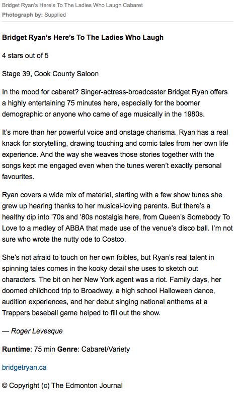 Press/Reviews — Bridget Ryan