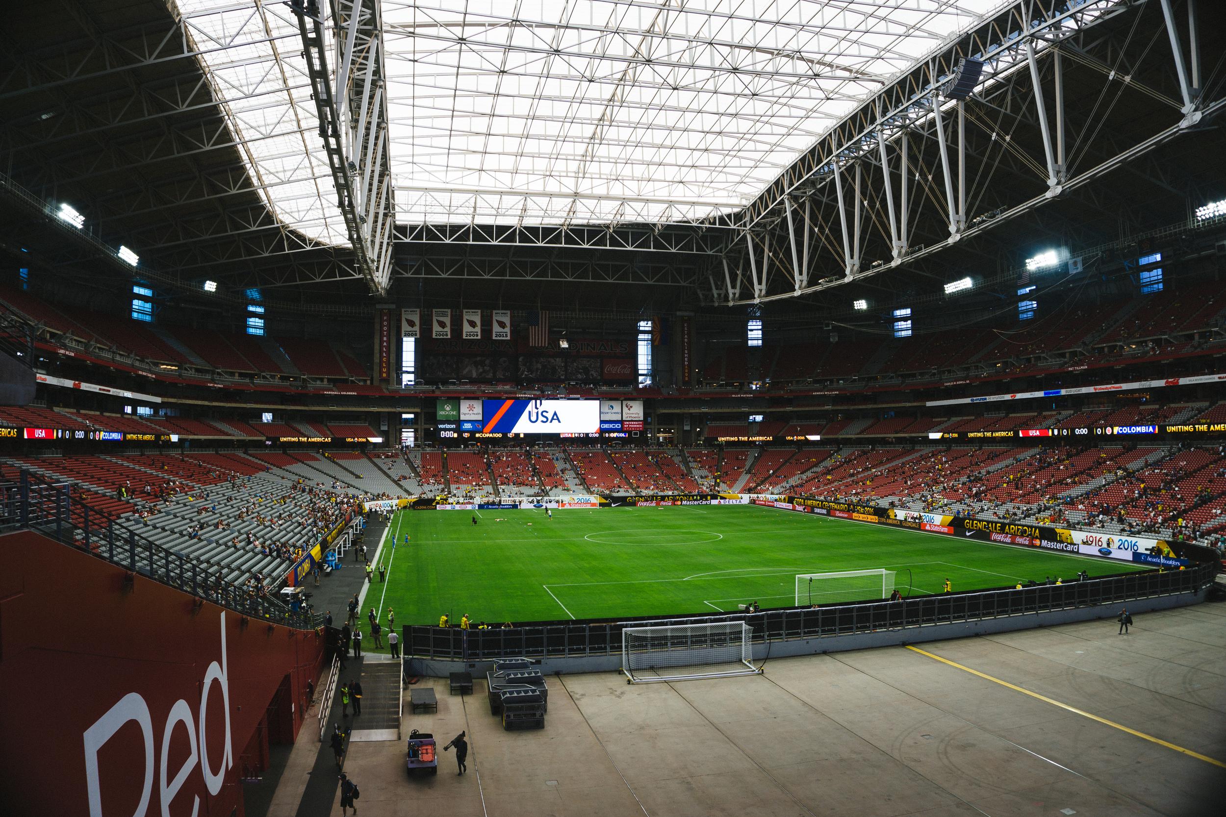 "University of Phoenix Stadium, Glendale, AZ - Jun 25,2016 ""USA vs Colombia"" Copa America"
