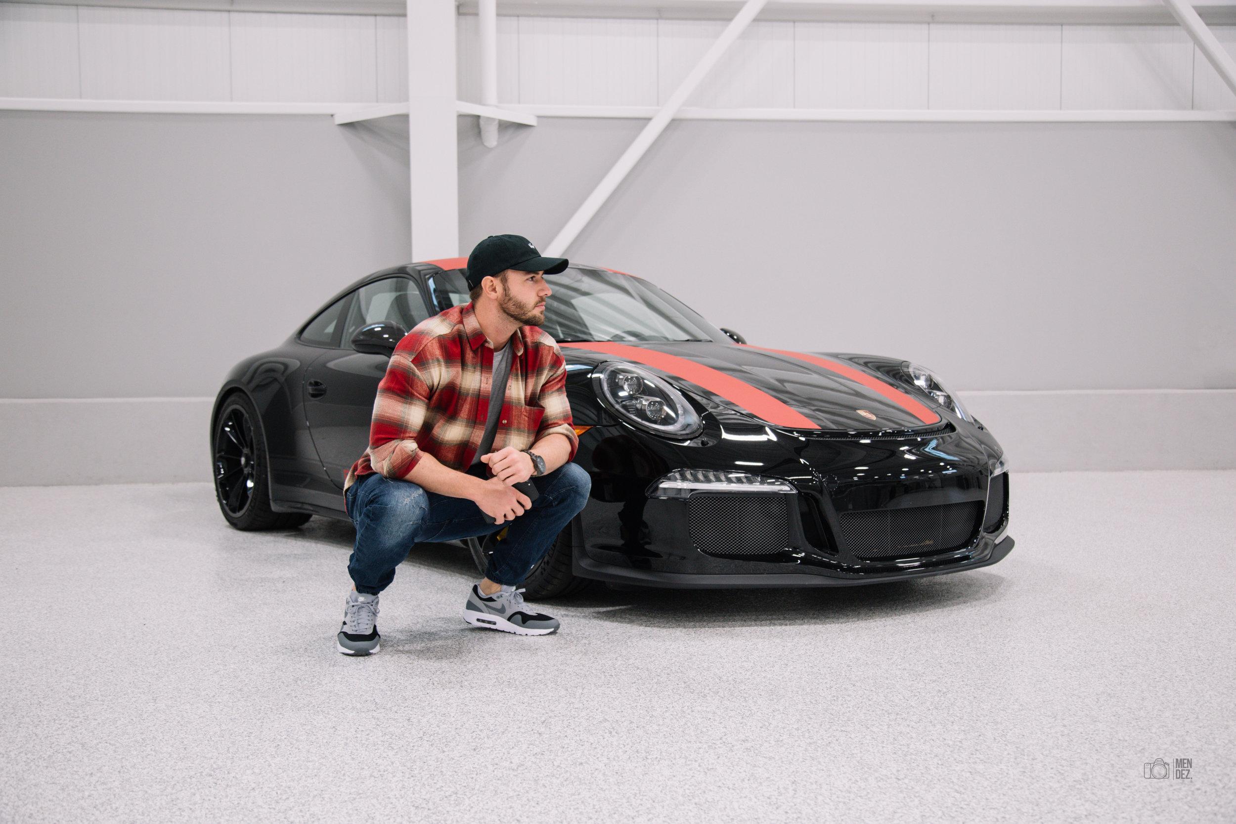 Porsche 911 R ft Esteban at the Hangar   December 2016