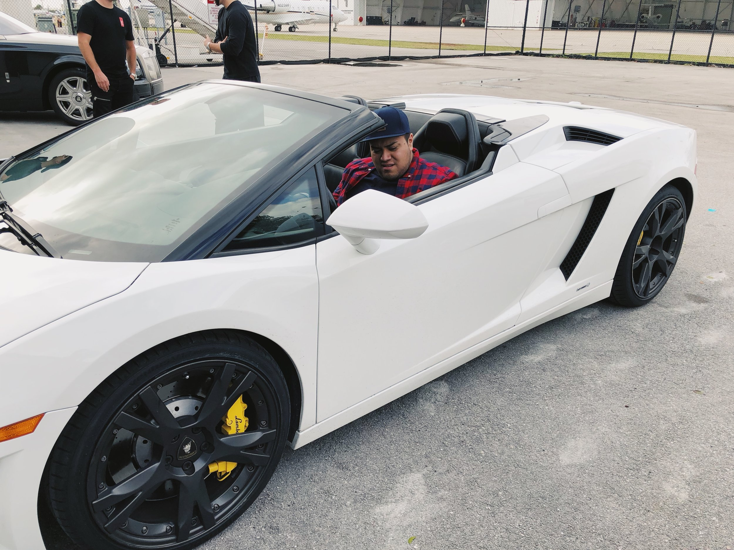 Picking up the Lambo for the Photoshoot