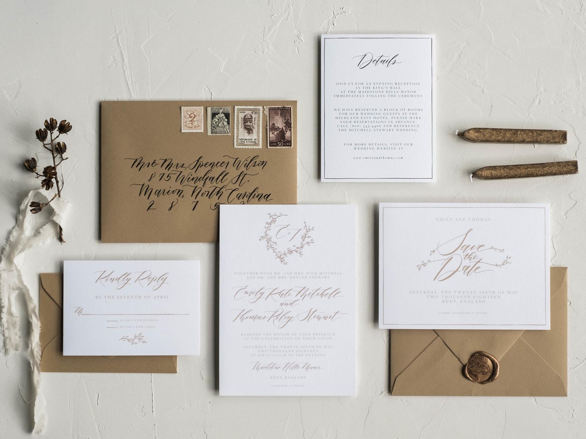 The Adelaide Wedding Invitation Suite
