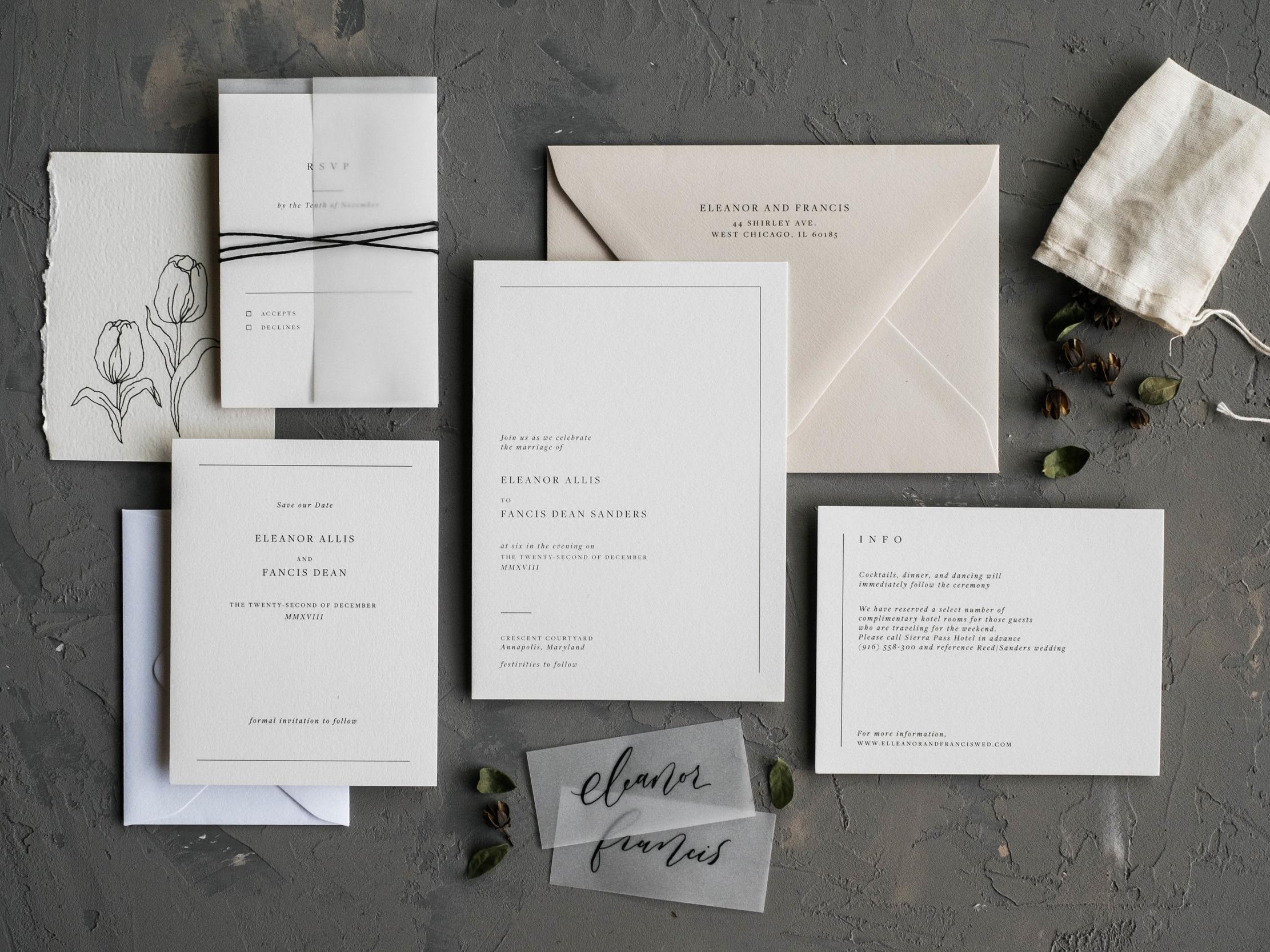 Nouvelle Wedding Invitation Suite