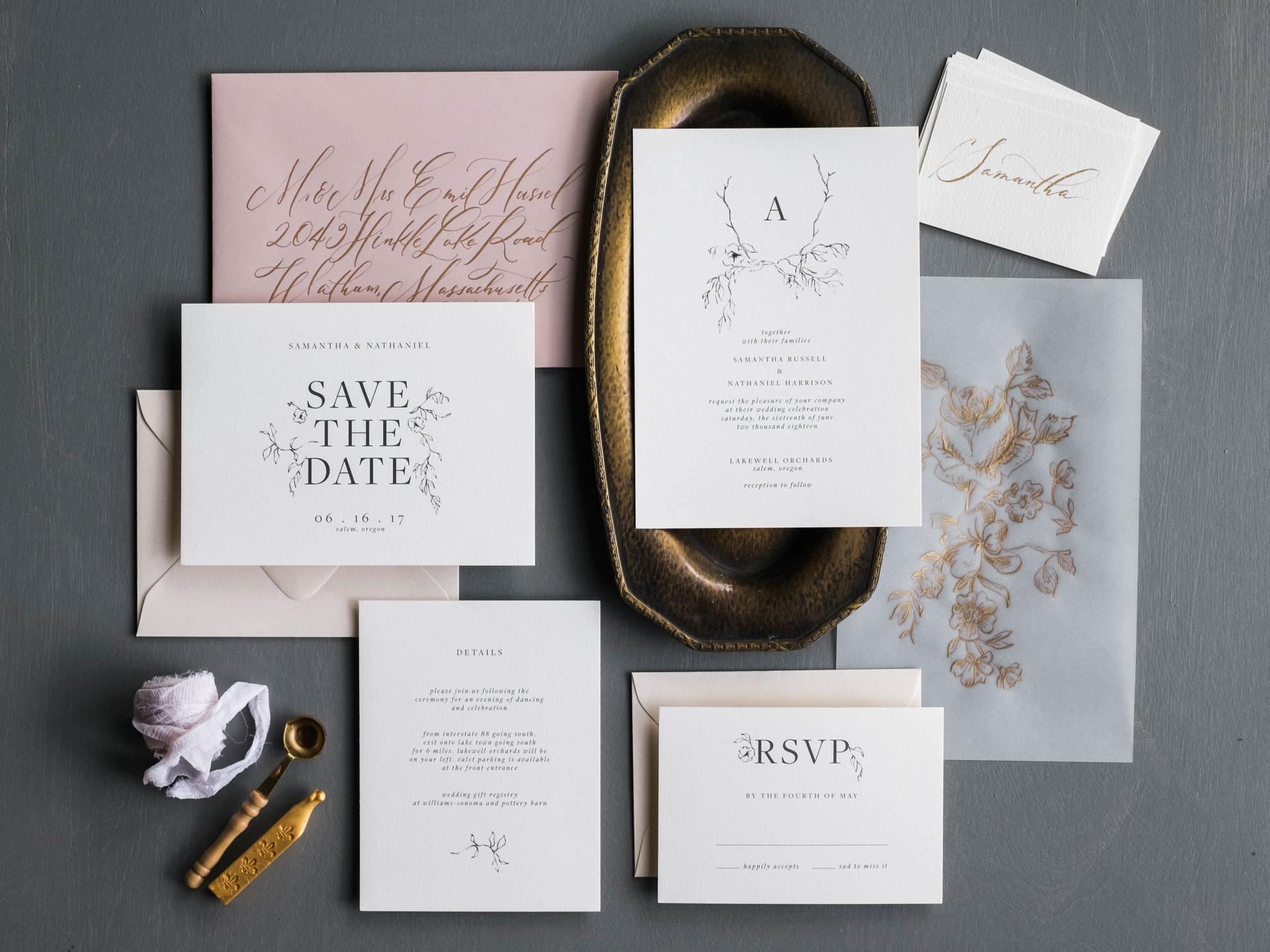 Botanique Wedding Invitation Suite
