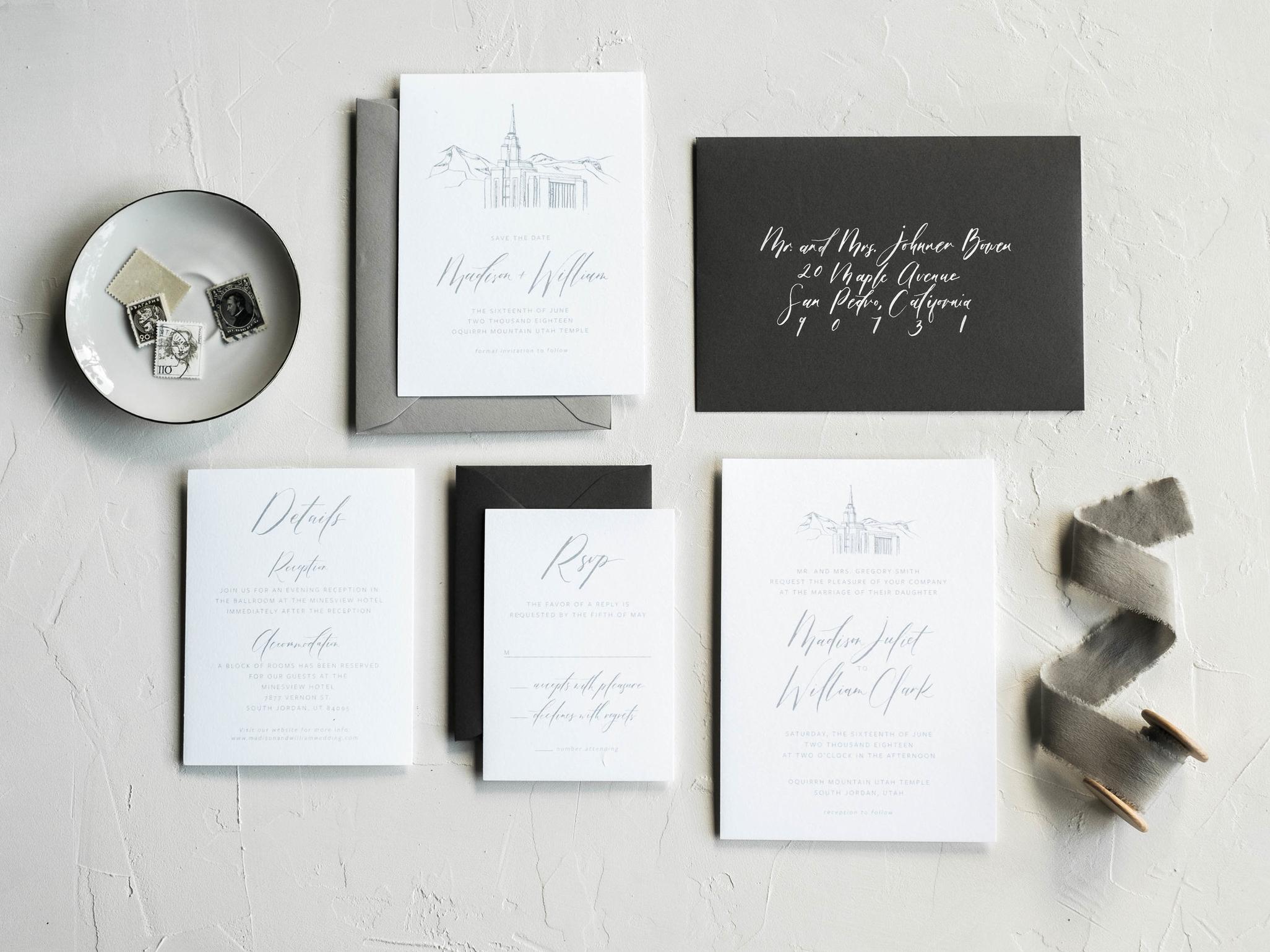 The Venue Wedding Inivitation Suite
