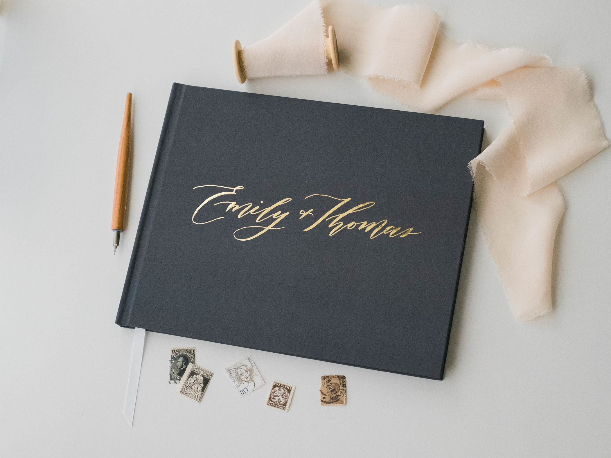 charcoal-wedding-guest-book