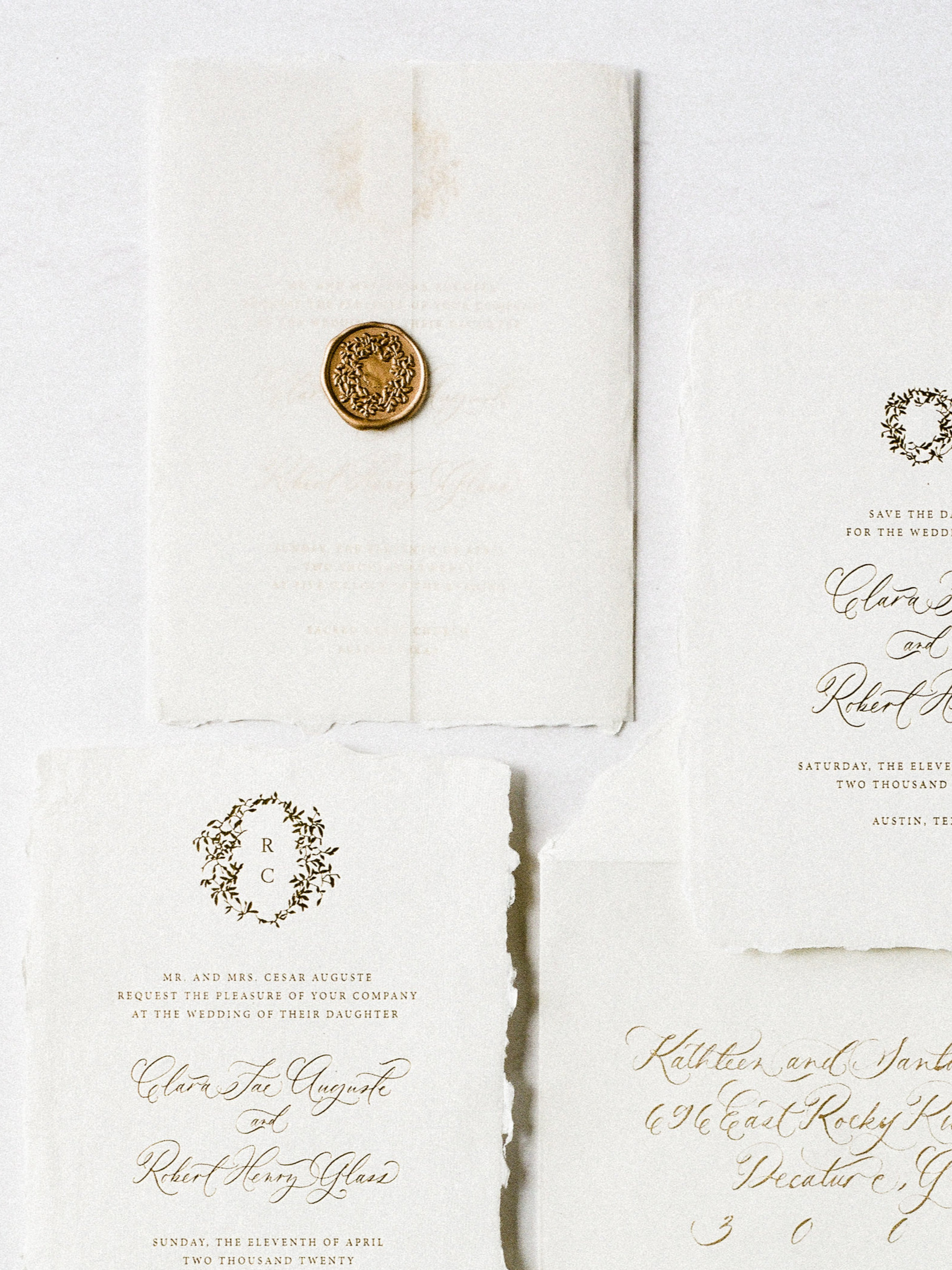 vellum with wax seal