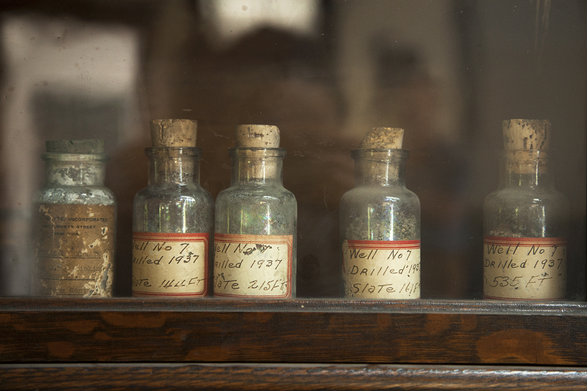 Old salt samples from the Dickinson's salt works. (Irina Zhorov)