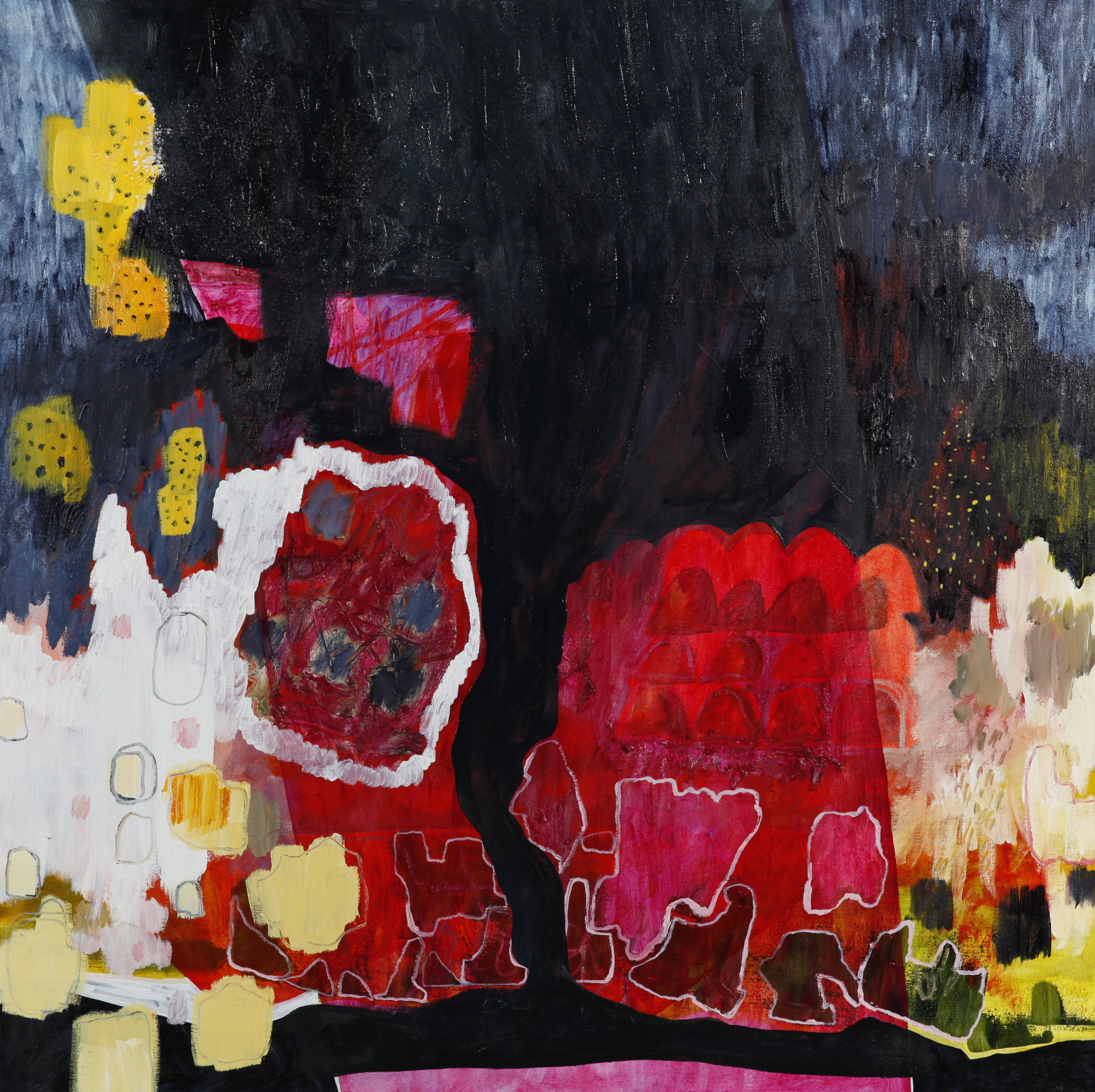 "oil on canvas  36"" x 36""  2014"