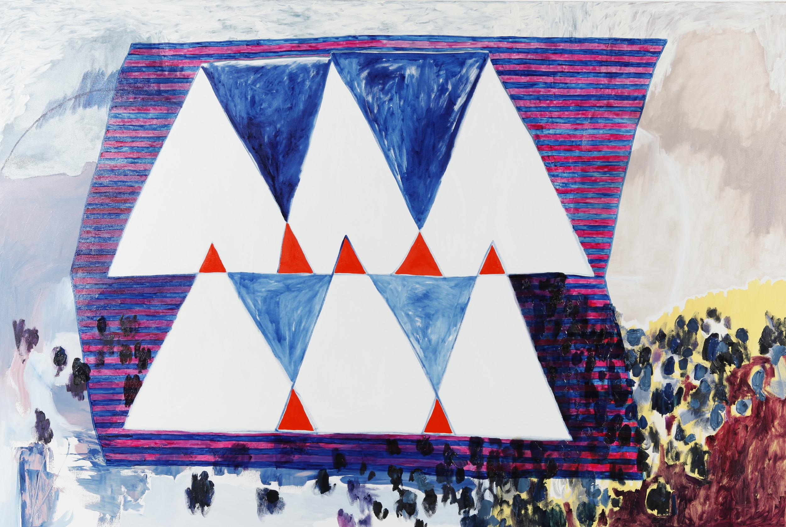 "oil on canvas 48"" x 72""  2014"