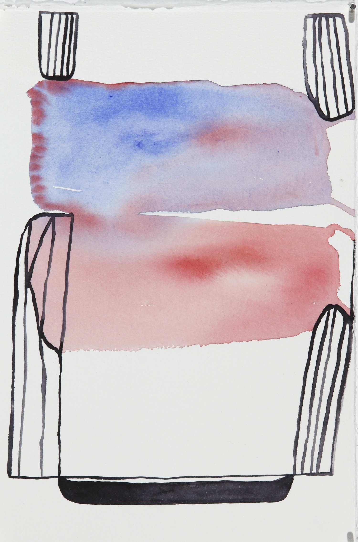 "watercolor on paper  11"" x 7 1/2""  2014"