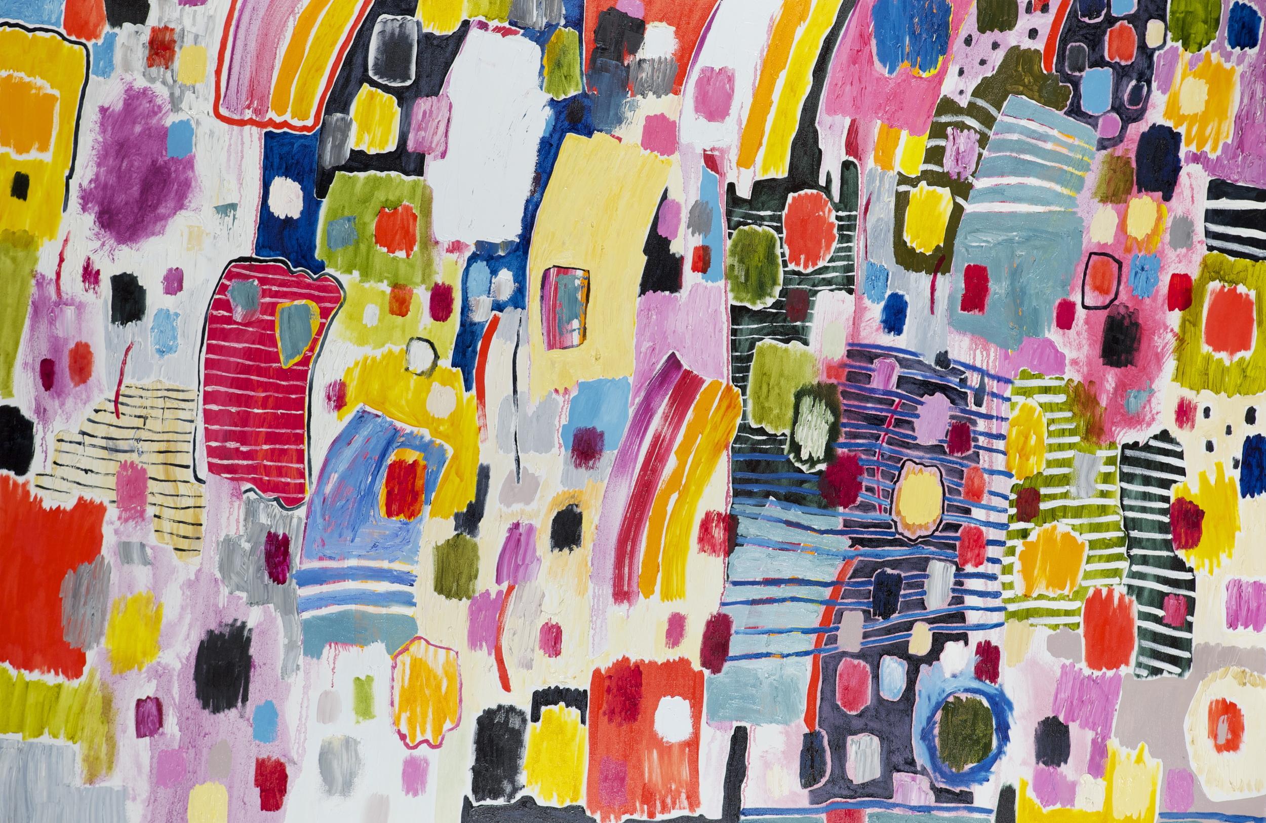 "oil on canvas  48"" x 72""  2015"
