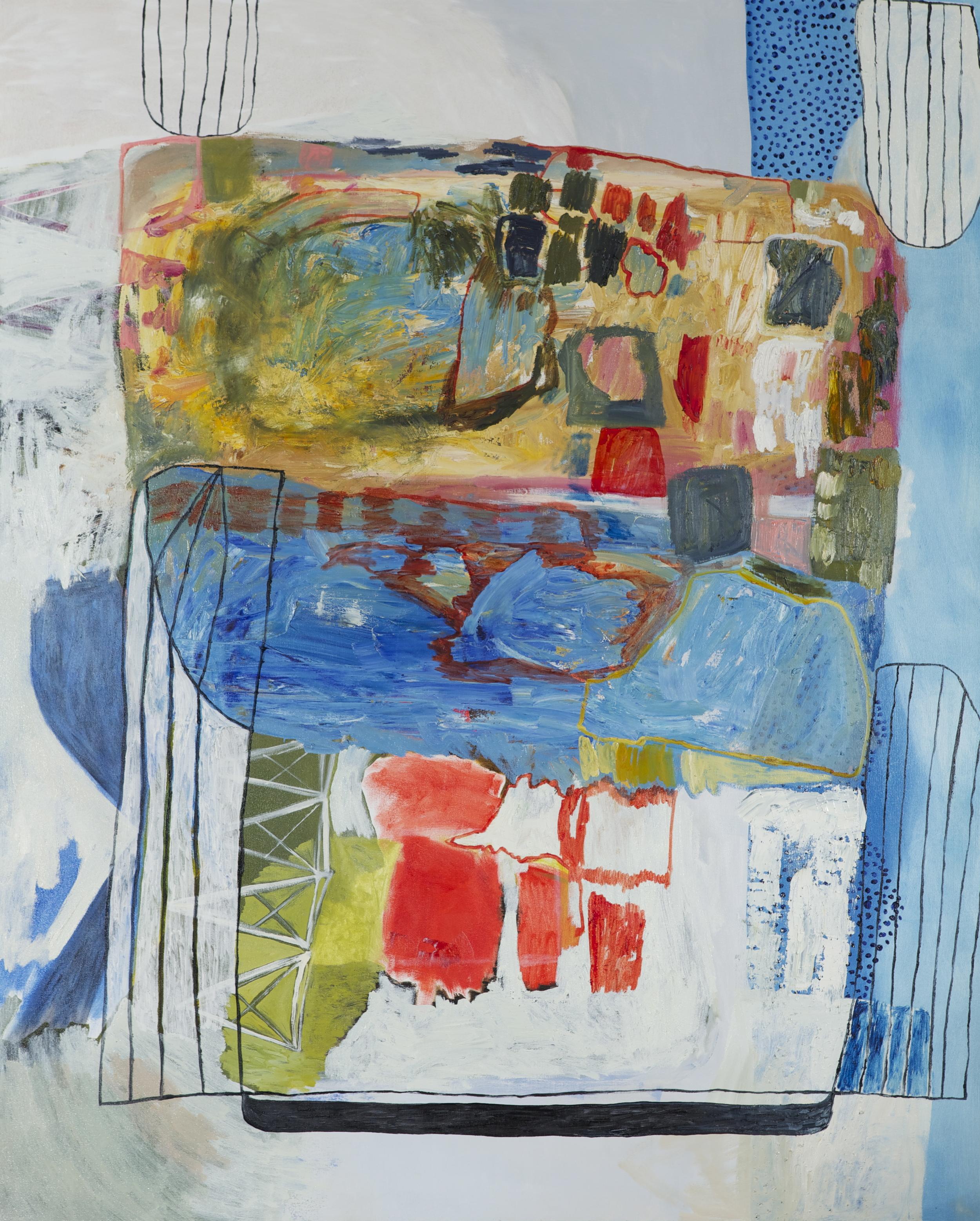 "acrylic and oil on canvas  60"" x 48""  2014"