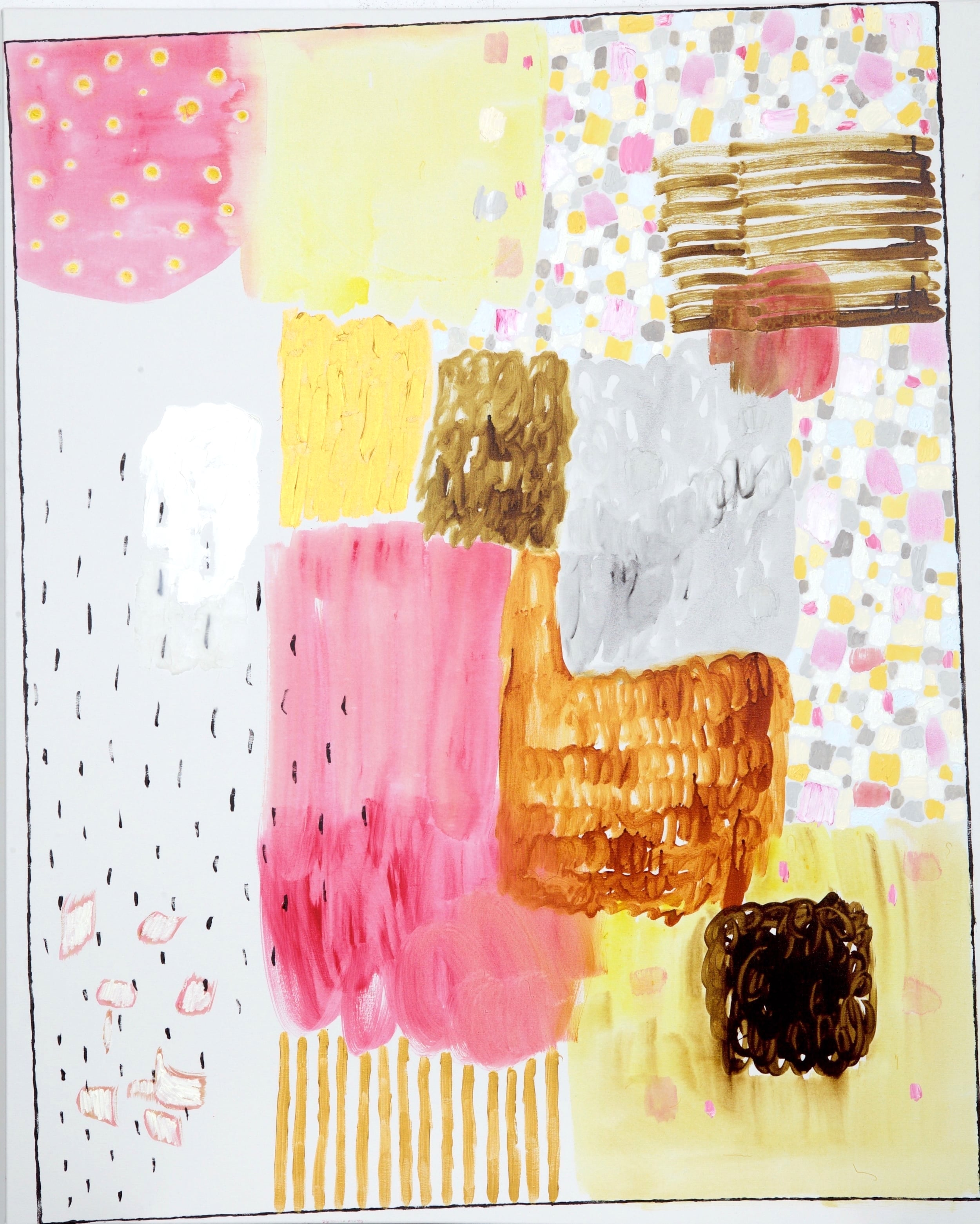 "acrylic and oil on canvas  60"" x 48""  2015"