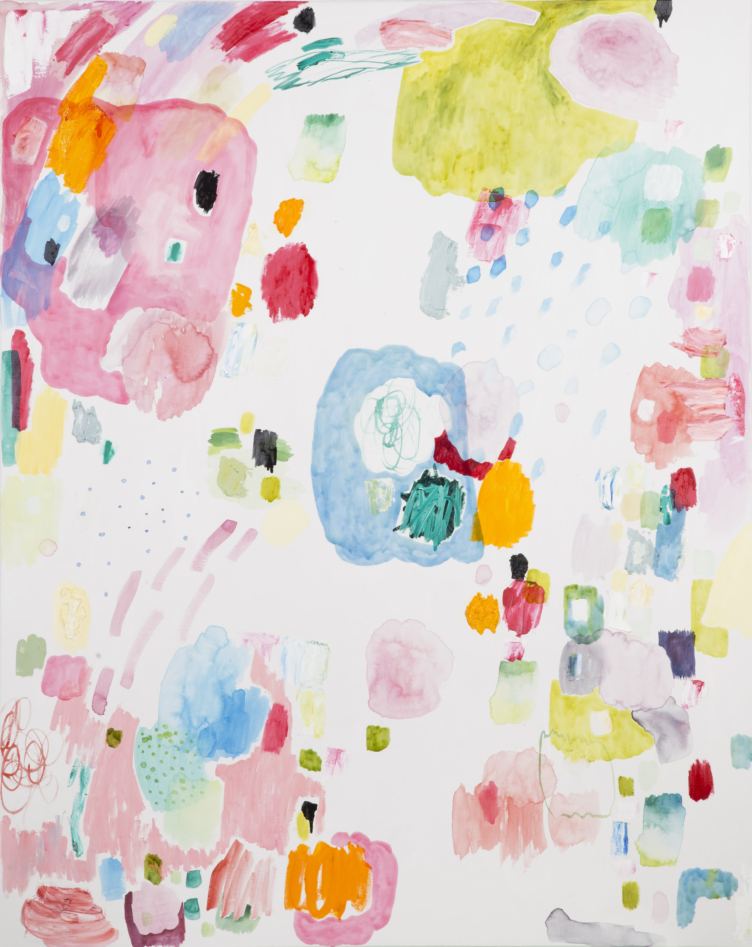 "acrylic and oil on canvas  60"" x 48""  2016"