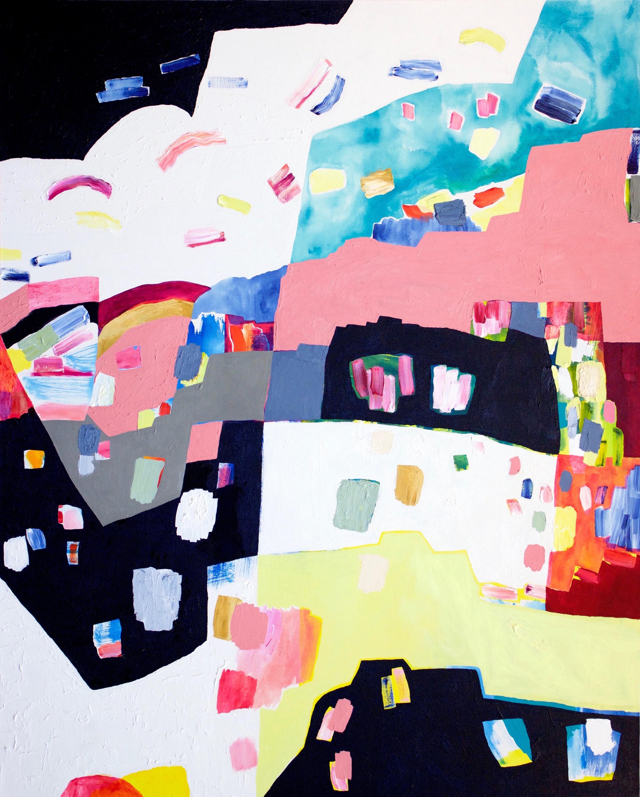 "acrylic and oil on canvas  60"" x 48""  2017"