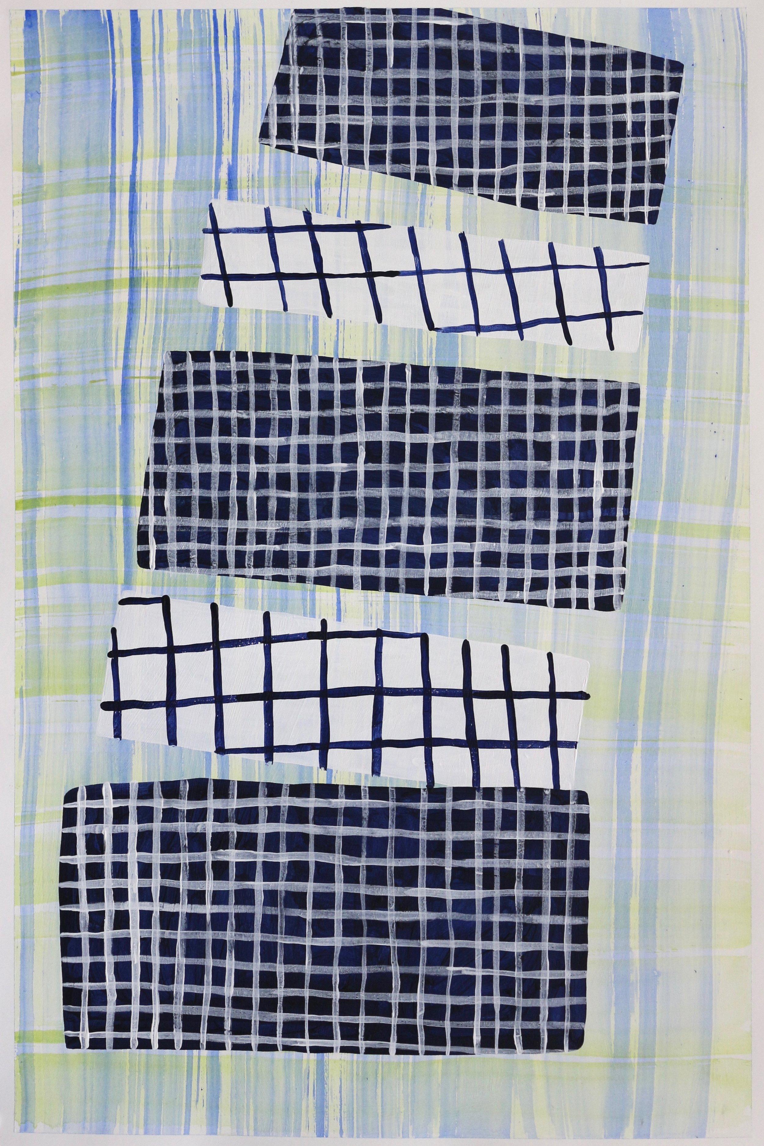 "acrylic on paper  22"" x 15""  2017"