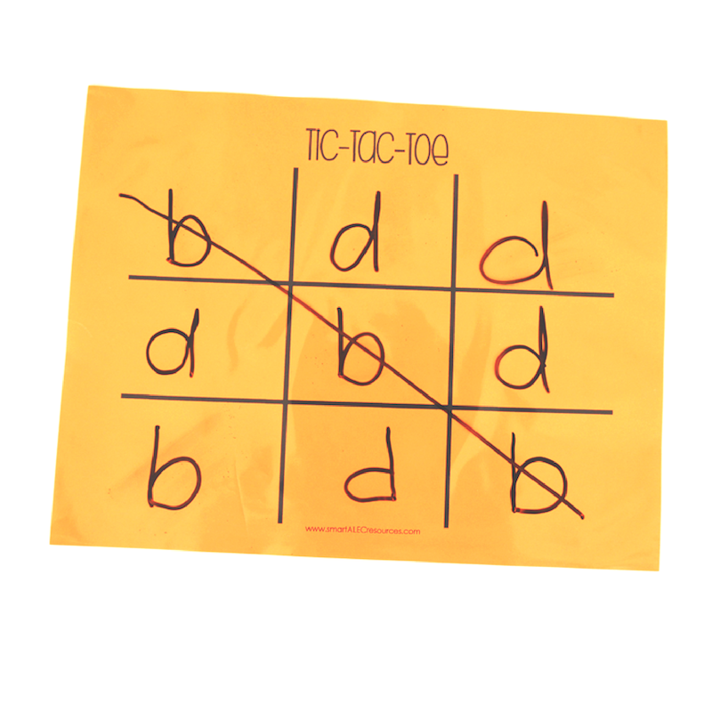 Using a tic-tac-toe game board can be an easy way for students to practice their handwriting and letter recognition skills!