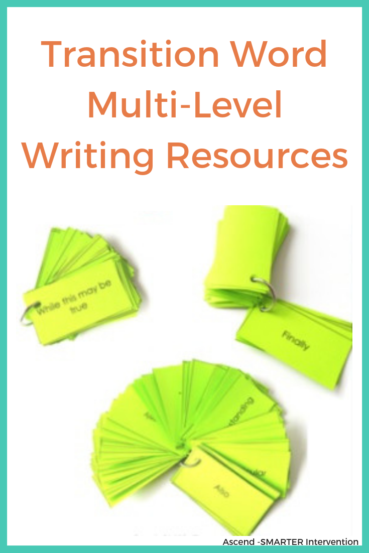 Transition word multi level writing resources.png