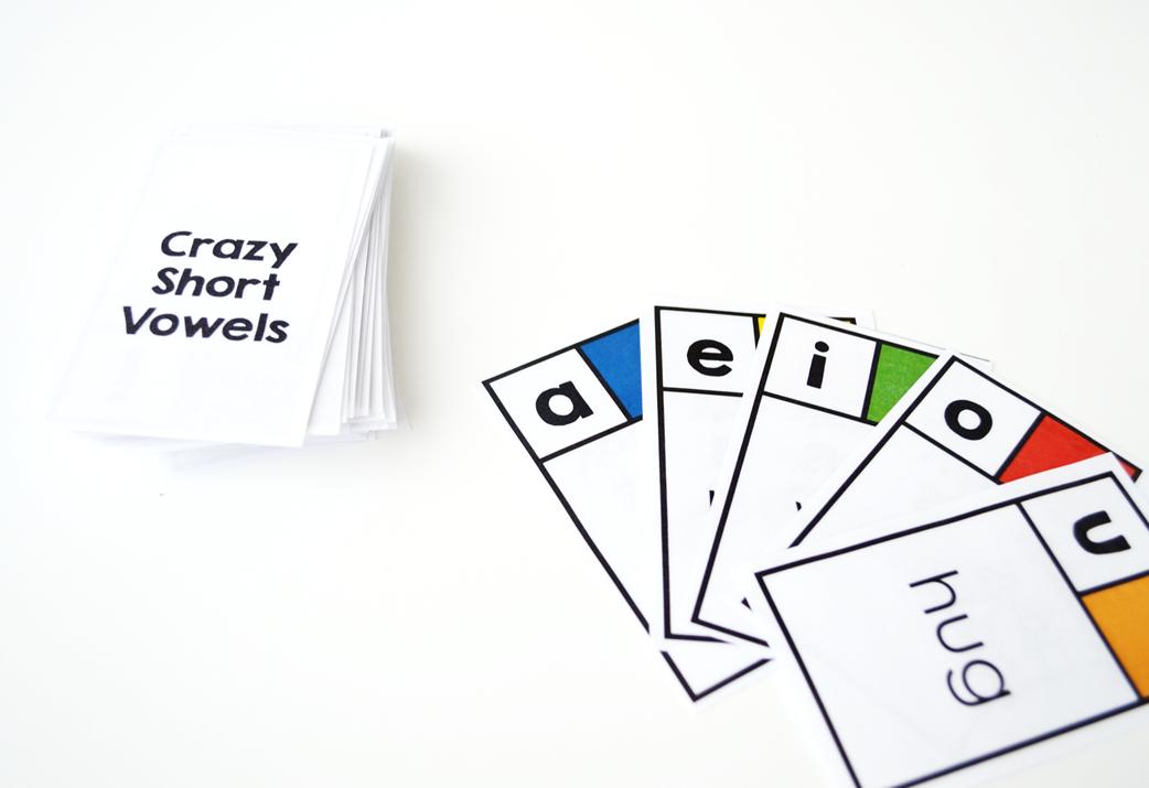 Crazy Short Vowels Game
