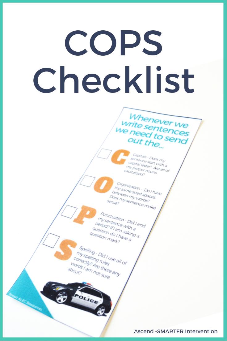 Cops Checklist