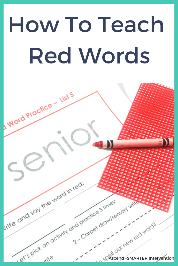 How to Teach Red Words Dyslexia