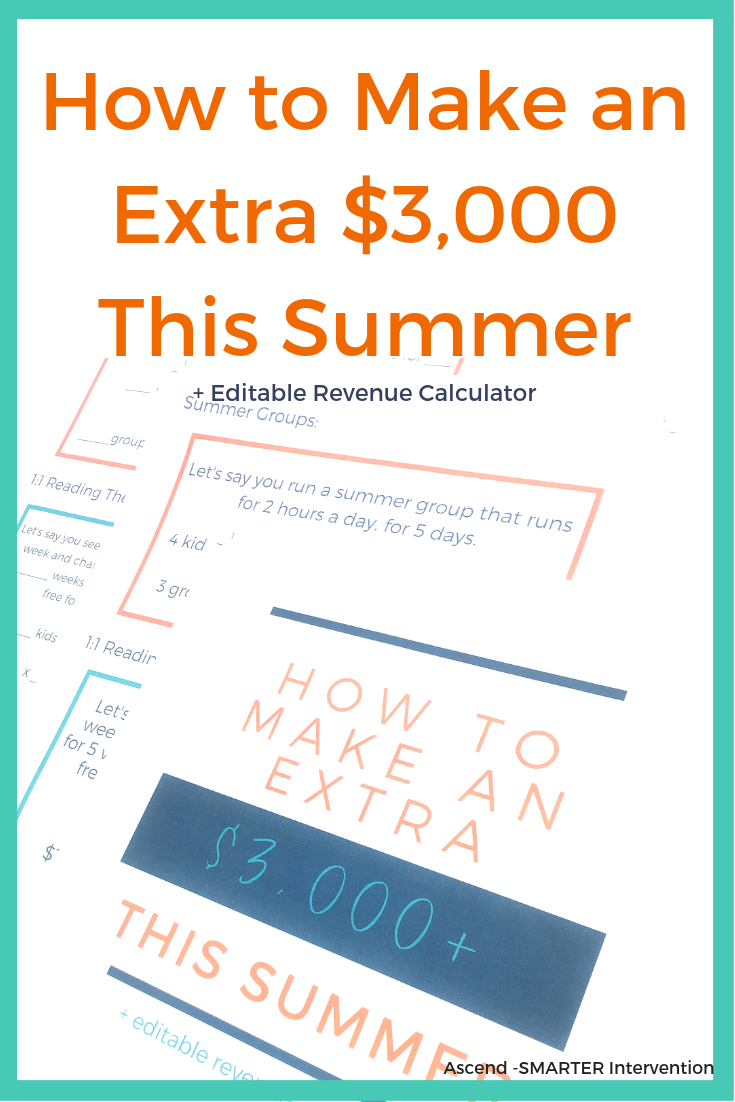 How to make an extra 3,000 and editable revenue calculator