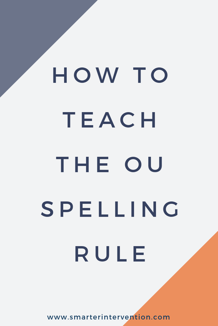 The OU vowel team says /ow/ like in trout and /oo/ like in soup. We use the key phrase trout soup in our reading and spelling instruction to help students learn this rule!
