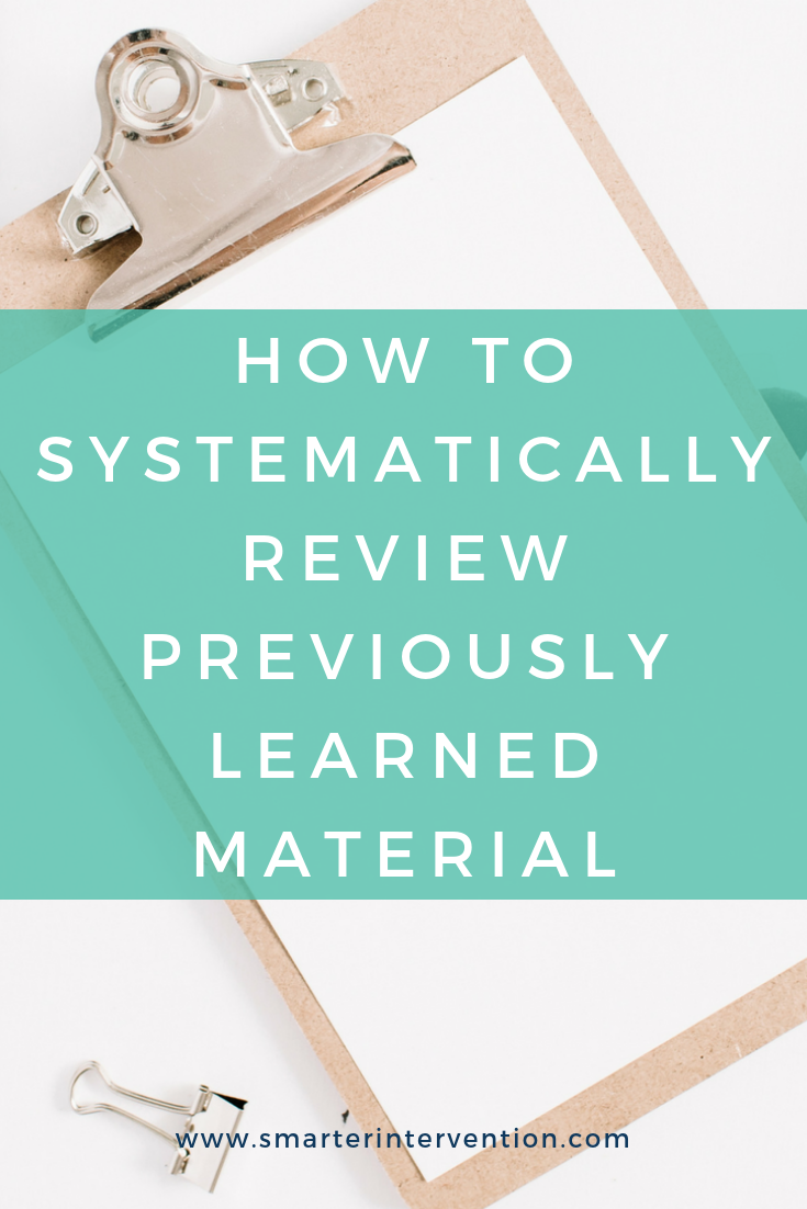 As students progress through reading instruction and learn harder skills, it is imperative that we review previously learned concepts with them too. Without systematic review, we risk students losing previously mastered skills. Read on to see how we systematically review with our students - these strategies have made a huge difference for us!