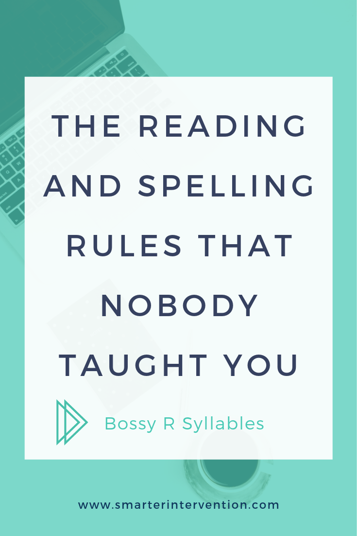 The Bossy R (R-Controlled) syllable type can be tricky for students, but here is how we explain the sounds of AR, OR, ER, IR and UR.
