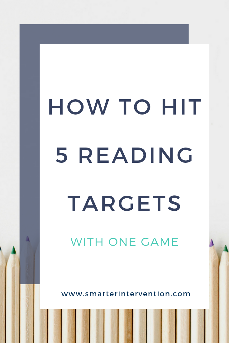 Here's how we use one game to hit on all 5 of the Core Components of Literacy - Phonological Awareness, Phonics, Reading Fluency, Reading Comprehension and Vocab! PLUS writing!