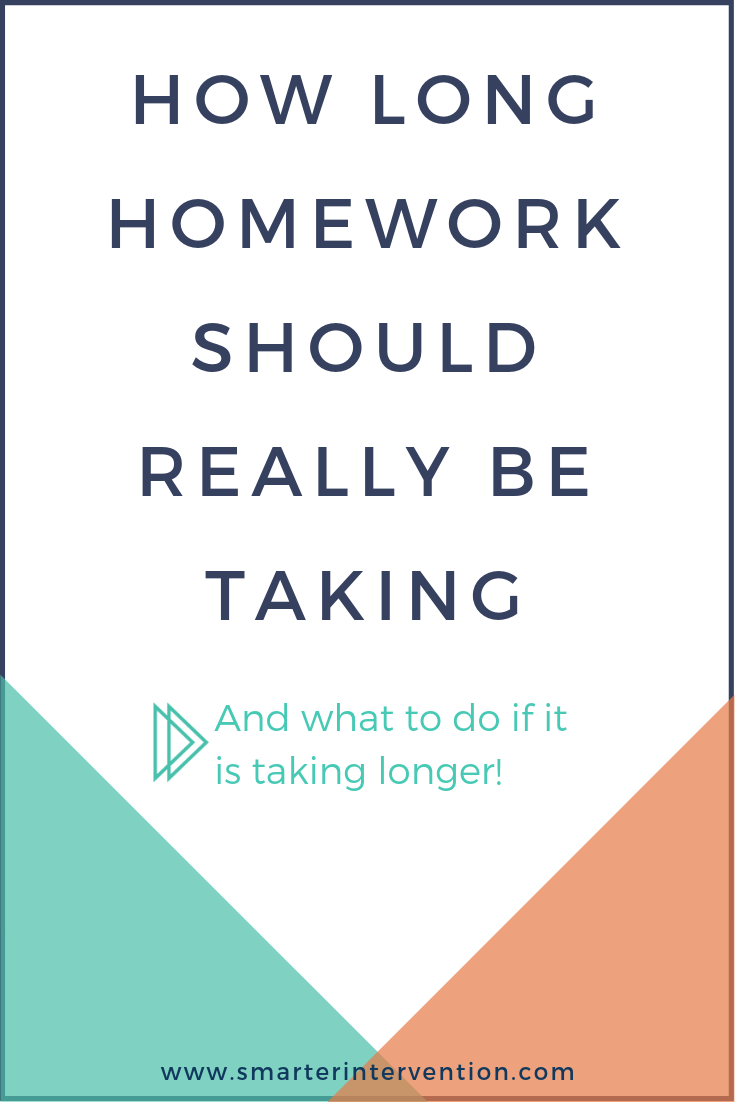 How long homework should really be taking