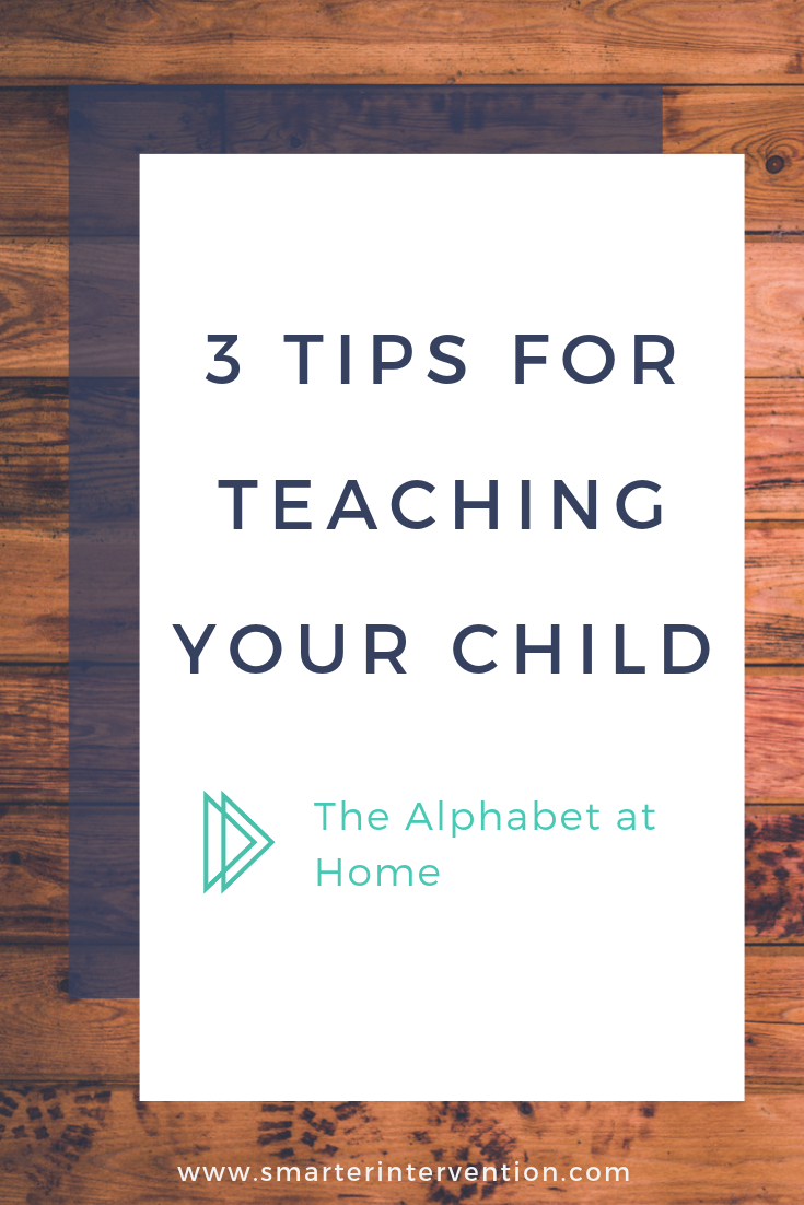 Teaching your child the alphabet at home