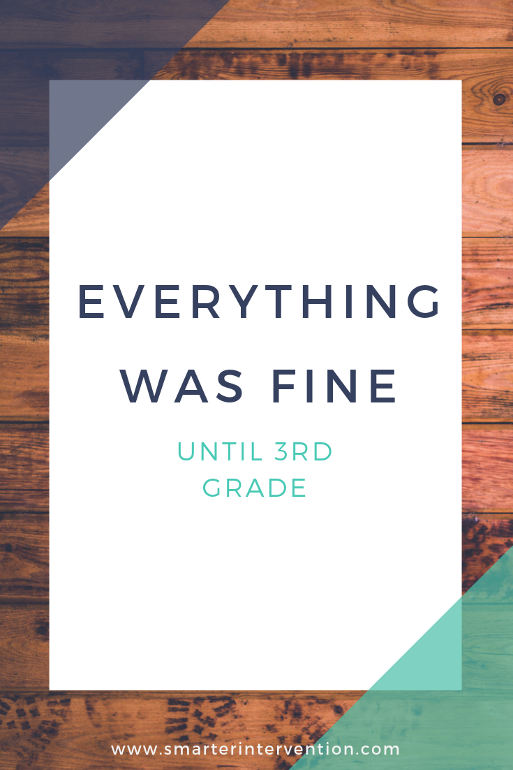 "We often hear from parents, ""everything was fine until 3rd grade."" The 3rd grade wall is real.  Usually students strrt to struggle when the focus shifts from phonological awareness/phonics and learning to read, to higher level skills are reading to learn."
