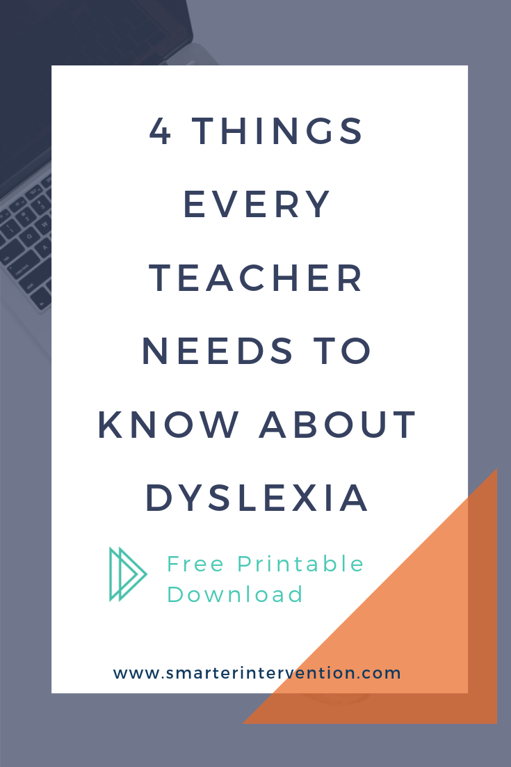 4 things every teacher needs to know about dyslexia.Read more to learn about signs of dyslexia in the classroom and ways you can help your struggling readers & dyslexic students.
