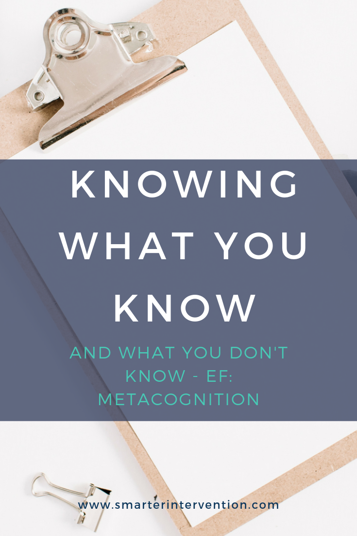 Knowing what you know and what you don't know
