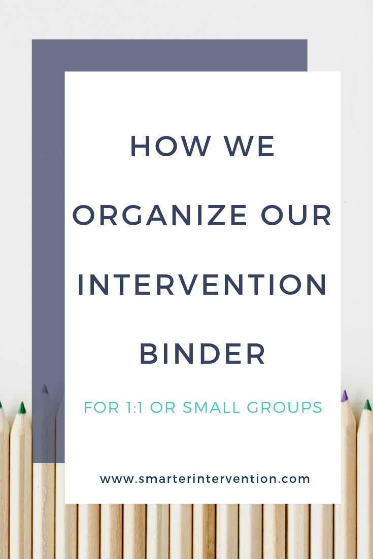 How We Organize Our Intervention Binder for Small Groups