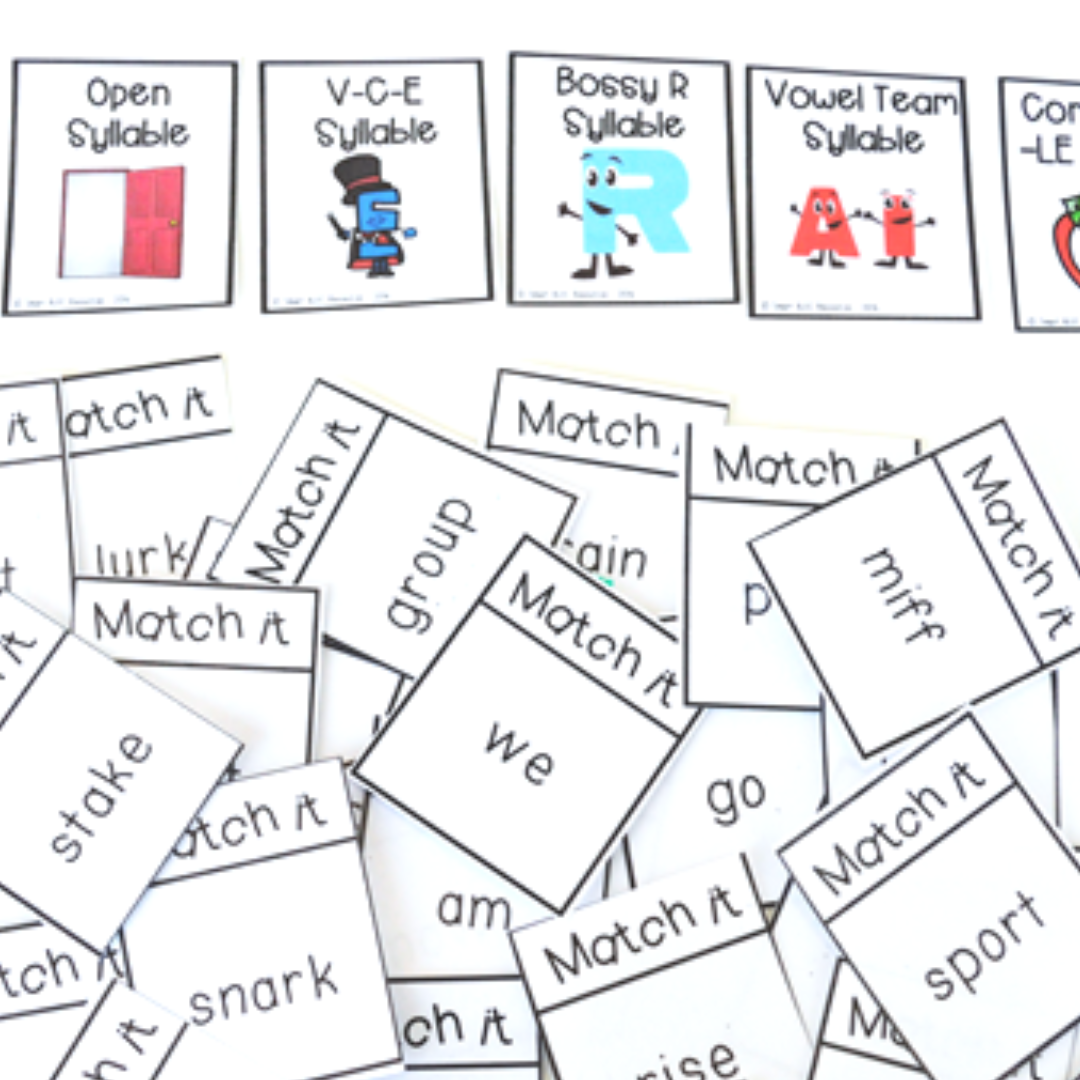 How to Teach 6 Syllable Types