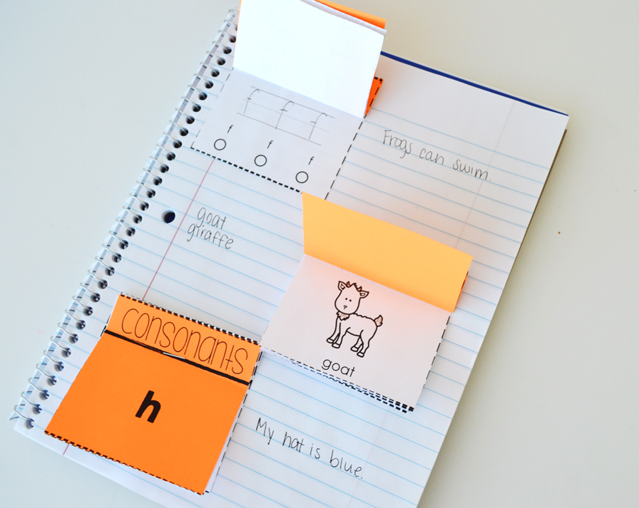 Our consonant and digraph interactive notebook includes printable pages that you can use with your students! These activities will keep them engaged while anchoring their skills!