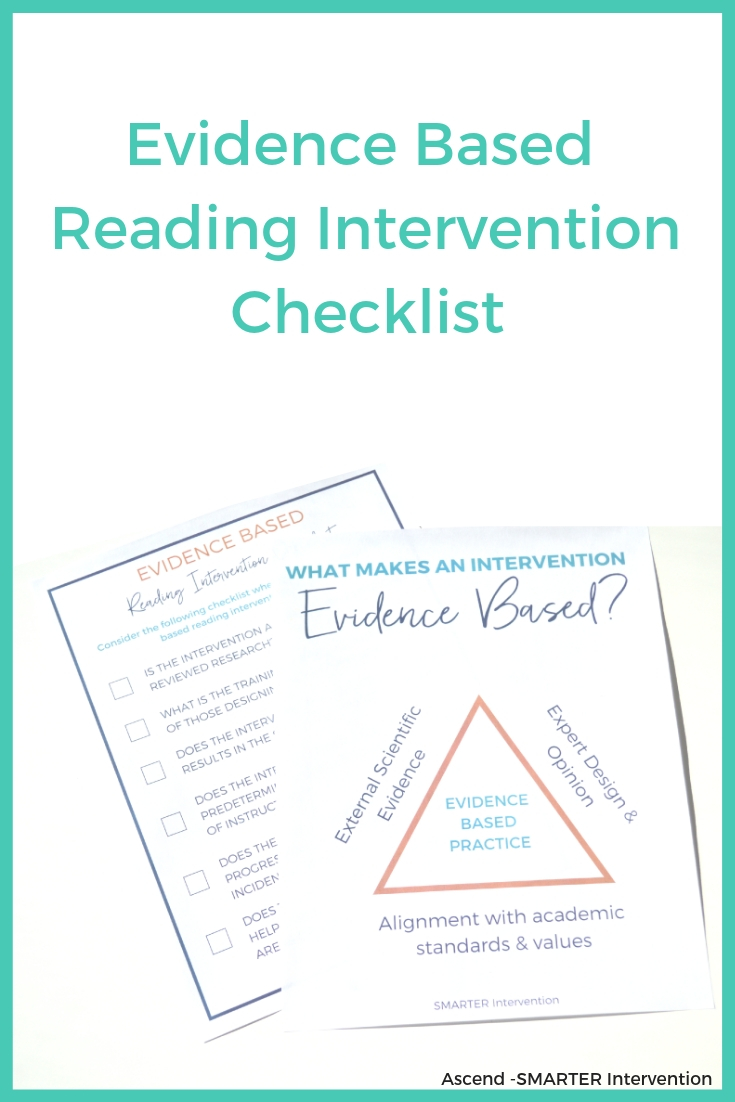 Click here for our Free Evidence Based Reading Intervention Checklist!