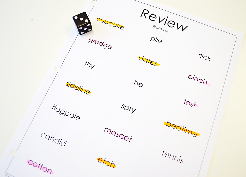 Using a word list by itself can be boring. When you turn a word list into a game it instantly becomes one of our students' favorite review activities!