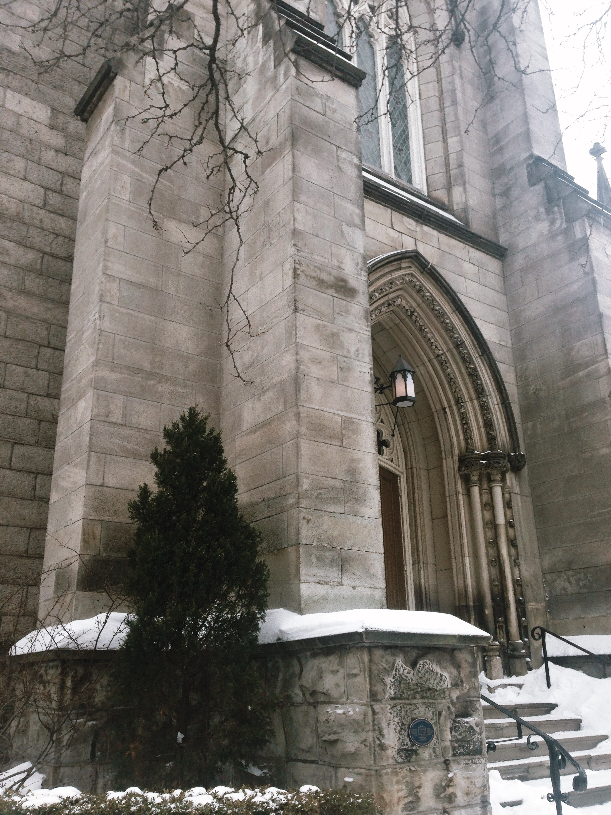 Old Baptist Church on James St. N where I found the dead bird.