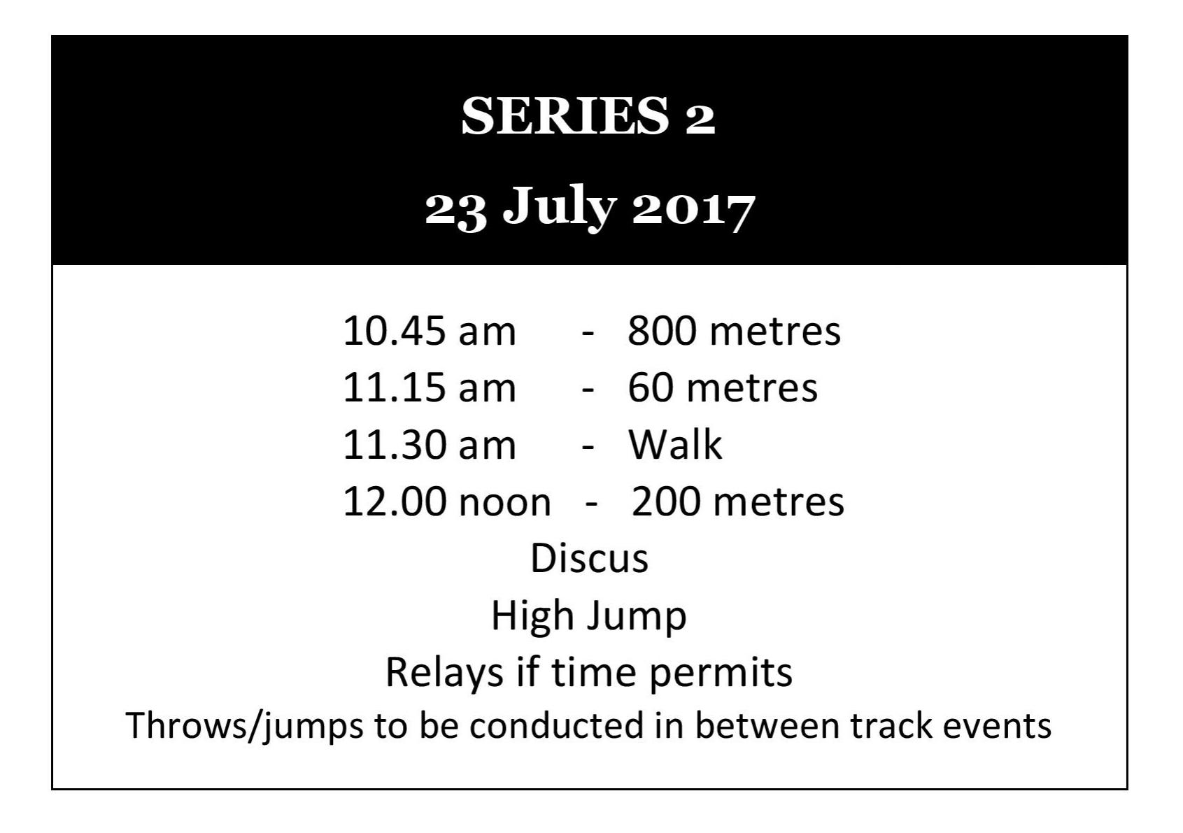 Winter Track Series 2