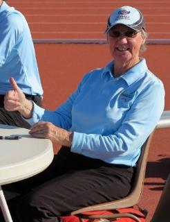 Janet Munro officiating