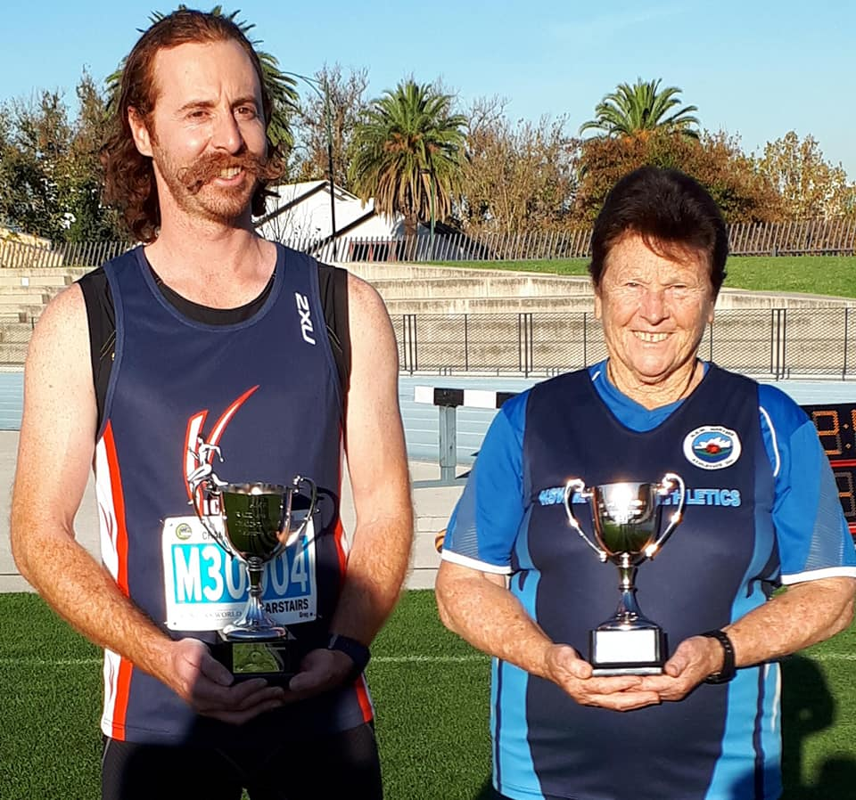 Champion of Champions Javelin Winners M30 Greg Carstairs & W70 Mary Thomas 29-4-19 .jpg