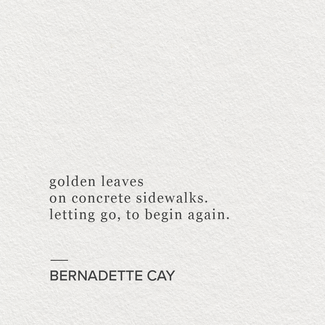 golden leaves on concrete sidewalks_bernadette cay 2018