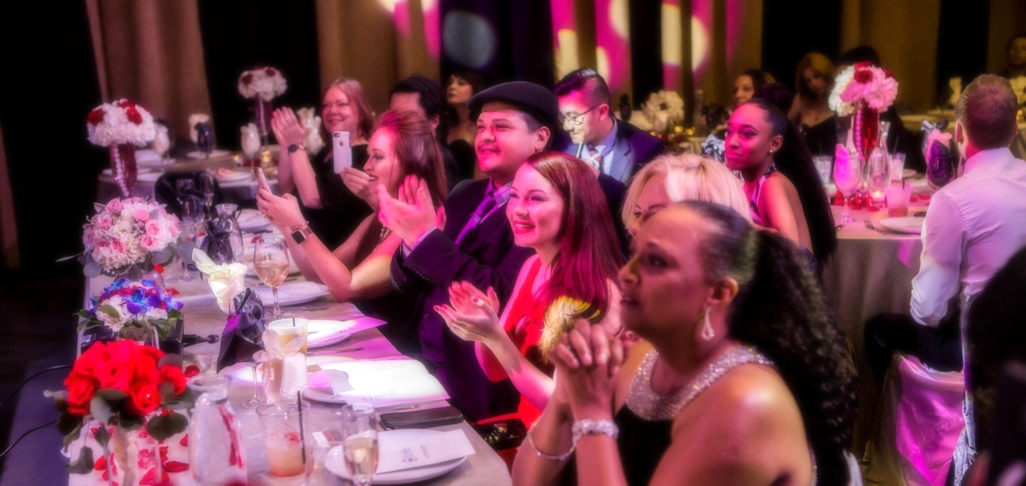 Sergio Daae sits at the center of the Judging Panel at The Las Vegas Wedding Video Awards, and performed as a Headline Entertainer for the event.