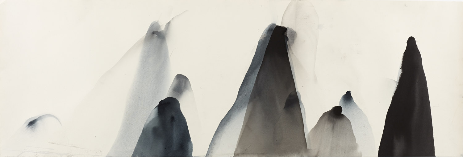 Li River 2, 111 x 38cm, Ink on Paper