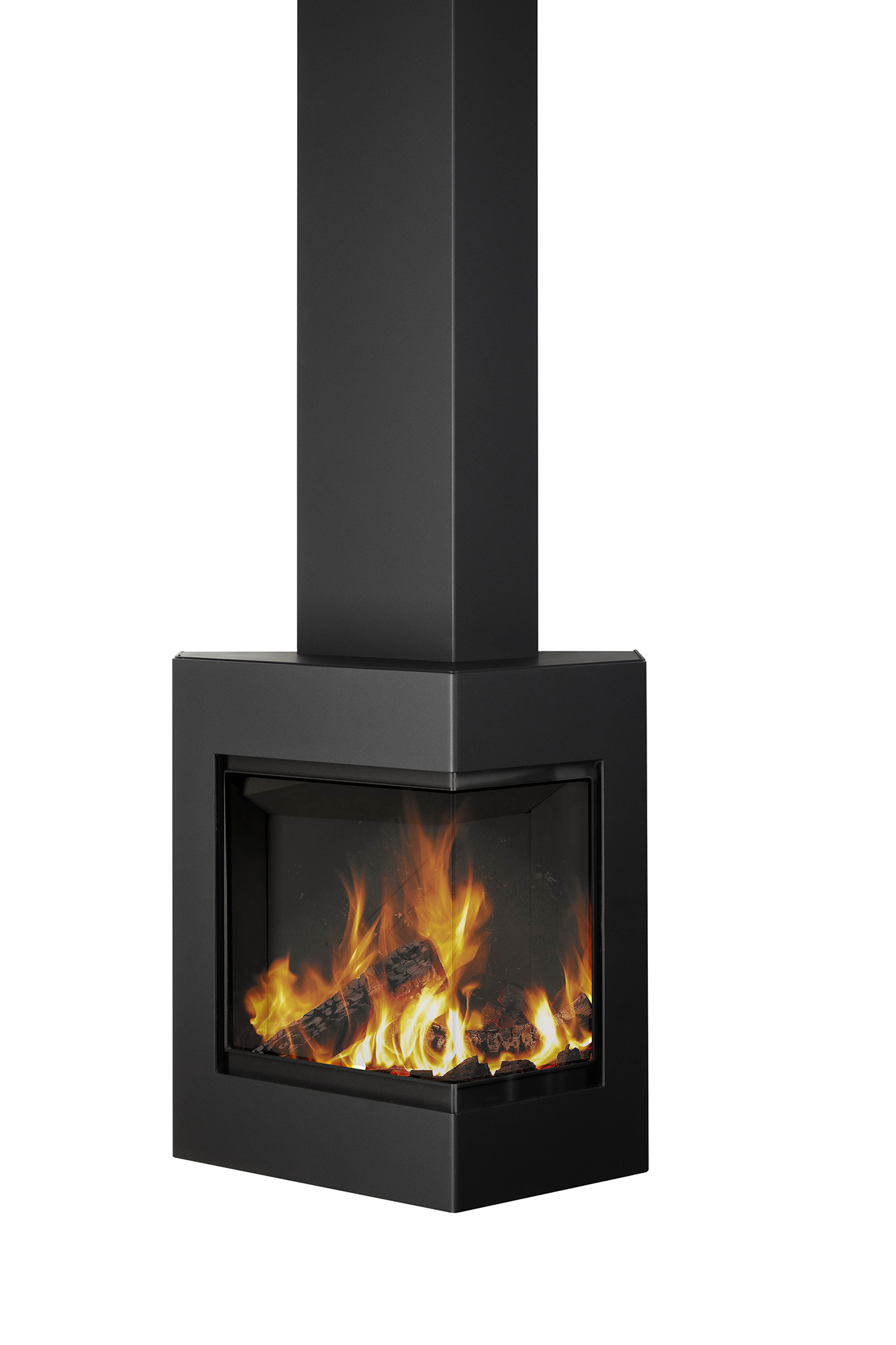 Harrie Leenders Boxer Black Wood Burning Stove