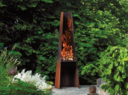RAIS Gizeh.  Sculptural outdoor BBQ or a fireplace for your garden or summer cottage